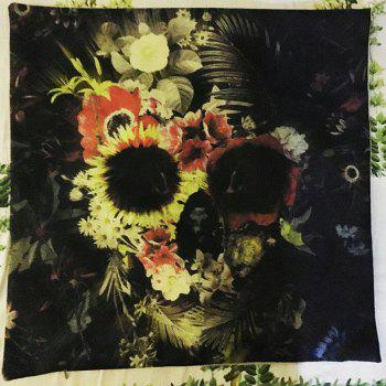 Halloween Flowers skull Head Linen Decorative Throw Pillow Case Cushion Cover Romantic Horror - COLORMIX