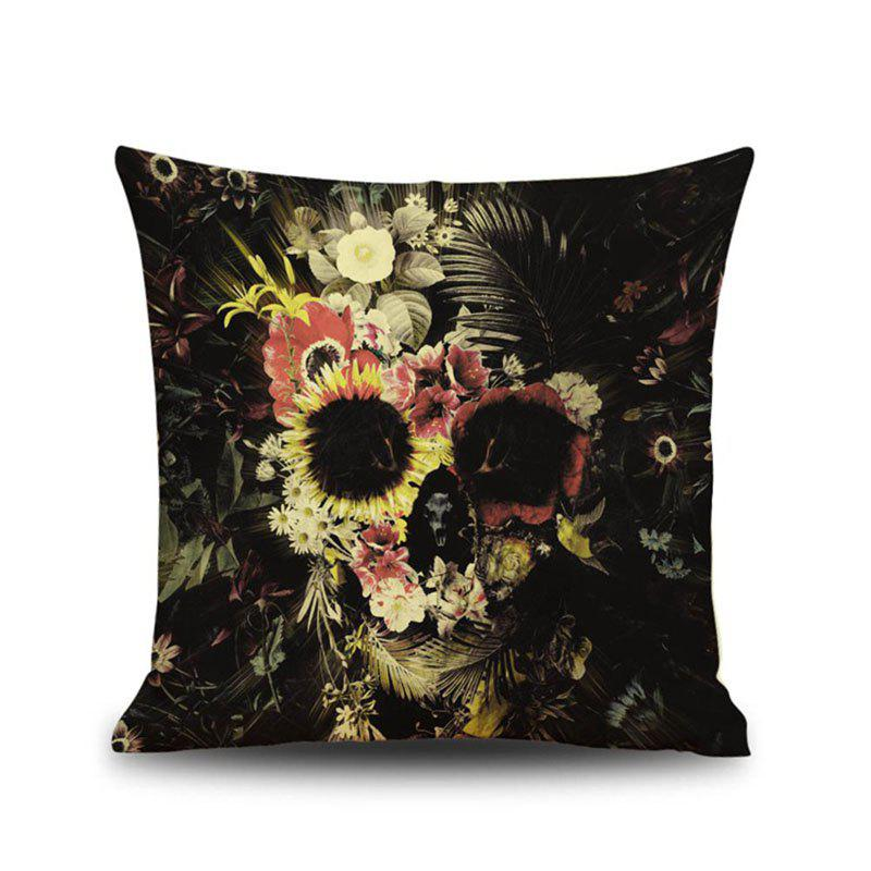 Halloween Flowers skull Head Linen Decorative Throw Pillow Case Cushion Cover Romantic Horror chinese style peony flower linen cushion cover pillow case