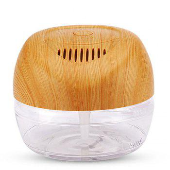 Water Based Air Conditioner LED Light Negative Ions Essential Oil Purifier - WOOD WOOD