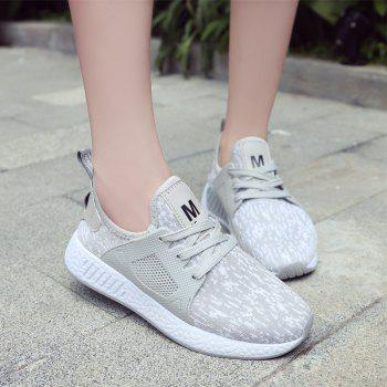 All-Match Lightweight Running Shoes Casual Shoes Flat Shoes - GRAY GRAY