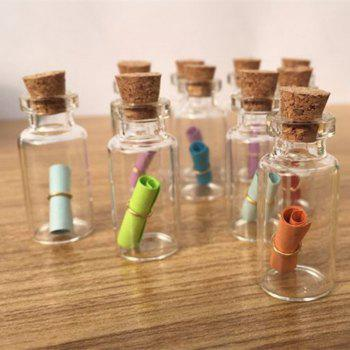 DIY 50PCS Mini Clear Glass Bottle Vials Empty Sample Jars with Cork Stopper Message Vial Weddings Wish Glass -  CLEAR WHITE