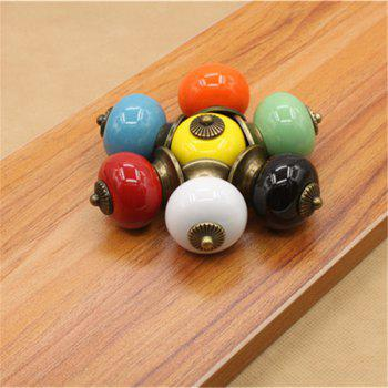 Hot Sale Ceramic Gold Retro Handle Pull Knob Cabinet Door Drawer Locker Vintage - multicolor