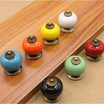 Hot Sale Ceramic Gold Retro Handle Pull Knob Cabinet Door Drawer Locker Vintage - MULTI multicolor