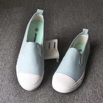 Students Breathe In Running Canvas Shoes - LIGHT GREEN LIGHT GREEN