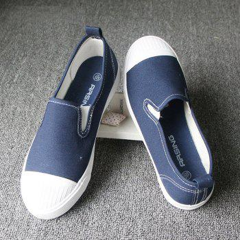 Students Breathe In Running Canvas Shoes - BLUE BLUE