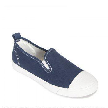 Students Breathe In Running Canvas Shoes - BLUE 38