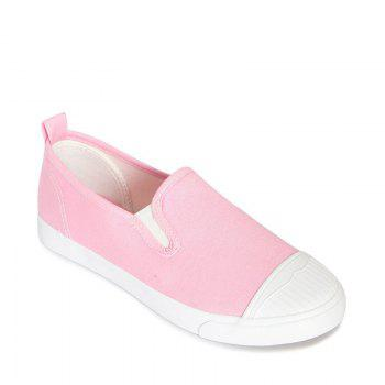 Students Breathe In Running Canvas Shoes - PINK PINK