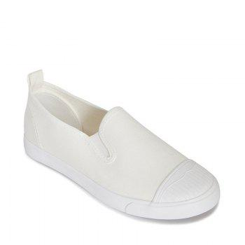 Students Breathe In Running Canvas Shoes - WHITE WHITE