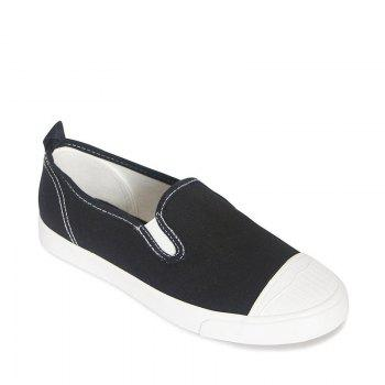 Students Breathe In Running Canvas Shoes - BLACK 35