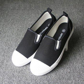 Students Breathe In Running Canvas Shoes - BLACK BLACK