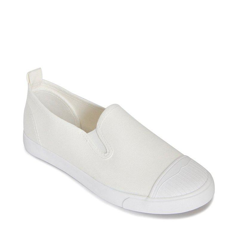 Students Breathe In Running Canvas Shoes - WHITE 37
