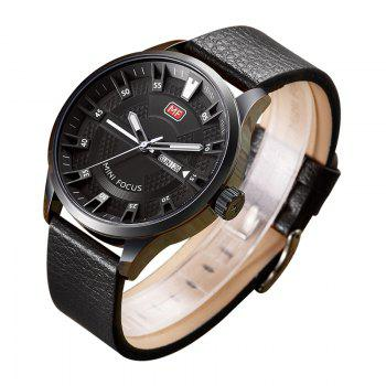 MINI FOCUS Mf0028G 4289 Fashion Calendar Display Men Watch - BLACK