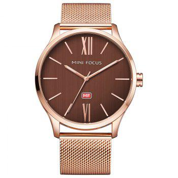 MINI FOCUS Mf0018G 4316 Fashion Steel Band Men Watch - ROSE GOLD ROSE GOLD