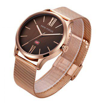 MINI FOCUS Mf0018G 4316 Fashion Steel Band Men Watch -  ROSE GOLD