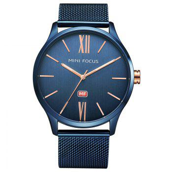 MINI FOCUS Mf0018G 4316 Fashion Steel Band Men Watch - BLUE BLUE