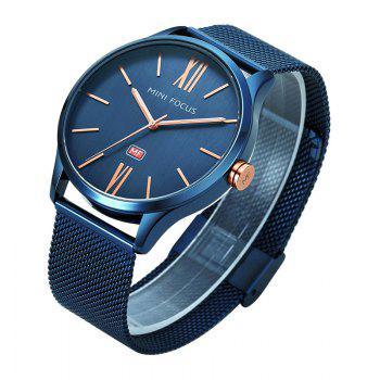 MINI FOCUS Mf0018G 4316 Fashion Steel Band Men Watch -  BLUE