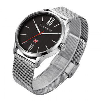 MINI FOCUS Mf0018G 4316 Fashion Steel Band Men Watch - SILVER