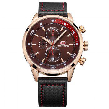 MINI FOCUS Mf0017G 4317 Leisure Pin Buckle Men Watch - COFFEE COFFEE