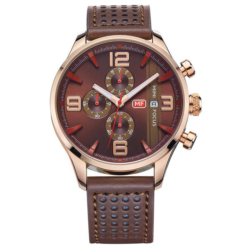MINI FOCUS Mf0016G 4318 Multifunctional Men Watch - COFFEE