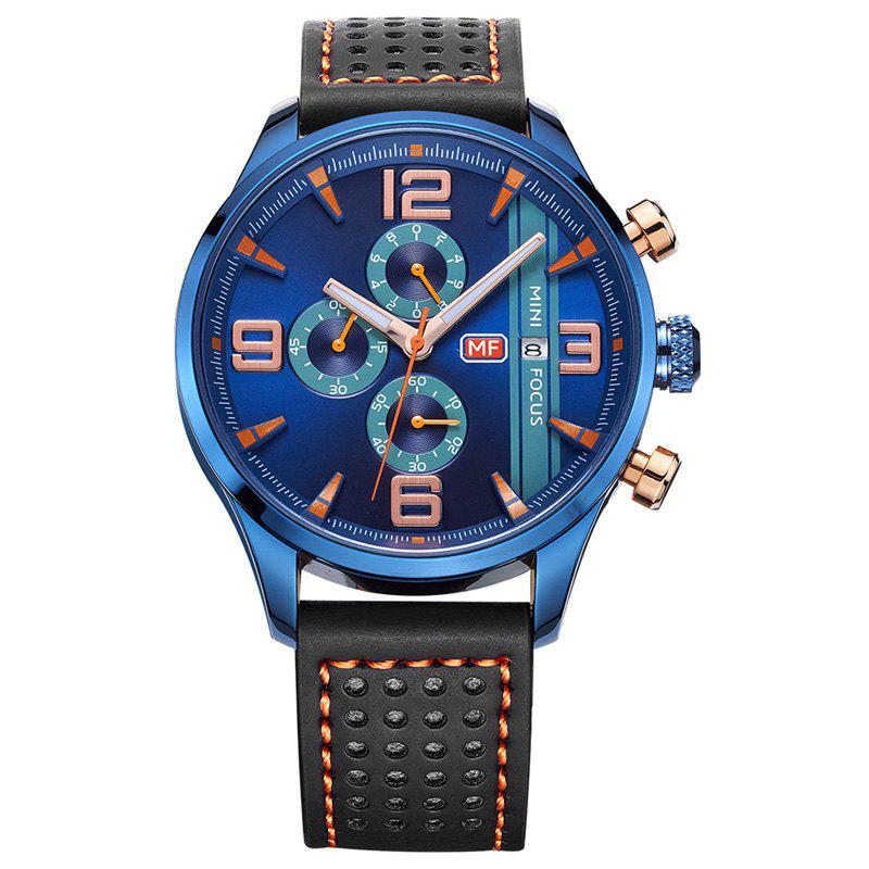 MINI FOCUS Mf0016G 4318 Multifunctional Men Watch - BLUE