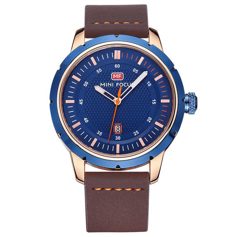 MINI FOCUS Mf0014G 4319 Calendar Display Men Watch - BLUE
