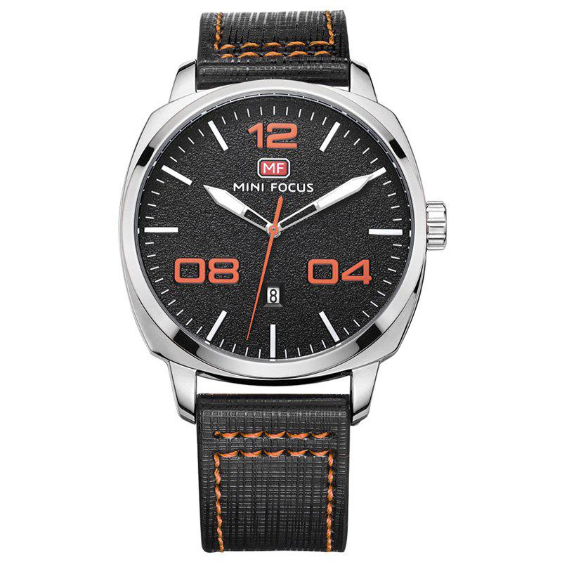MINI FOCUS Mf0013G 4321 Montre Masculin Affichage de la Date - Orange