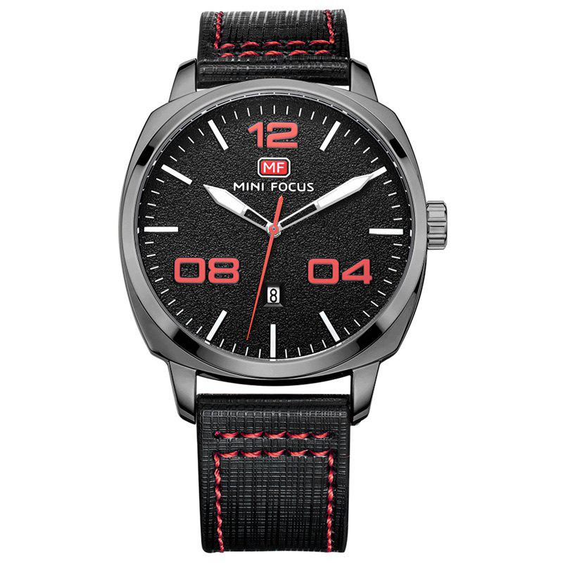 MINI FOCUS Mf0013G 4321 Montre Masculin Affichage de la Date - Rouge