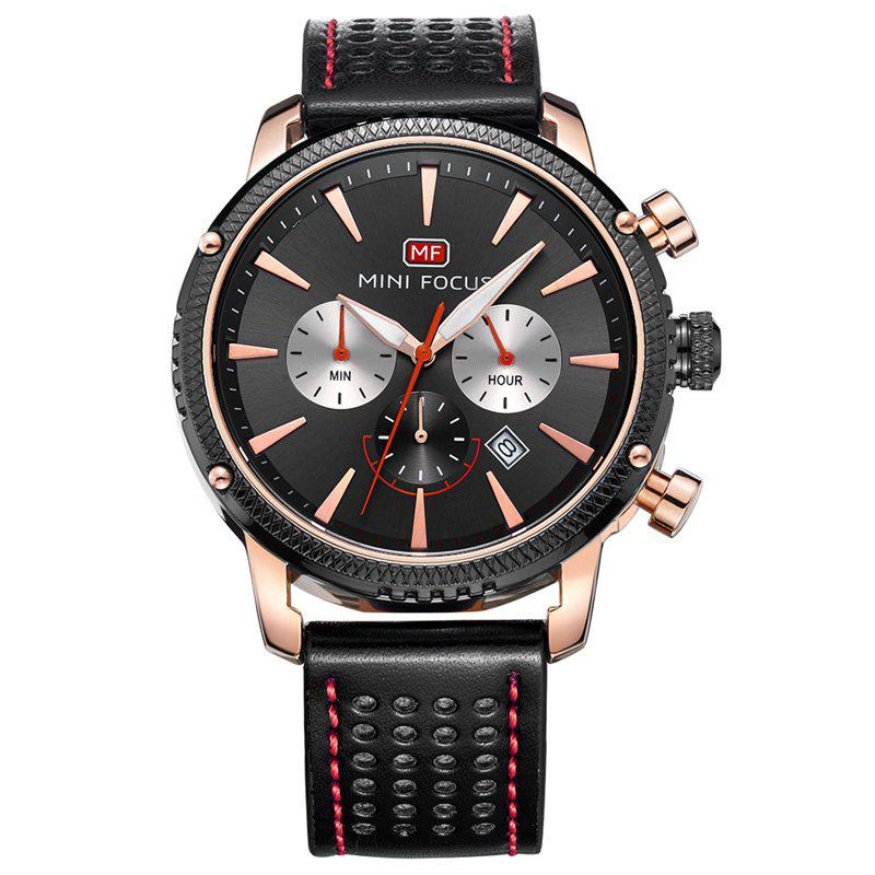 MINI FOCUS Mf0010G 4369 Leisure Calendar Display Men Watch - ROSE GOLD