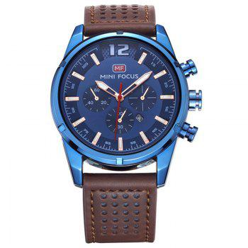MINI FOCUS Mf0005G 4372 Dial Decor Men Watch - BLUE BLUE