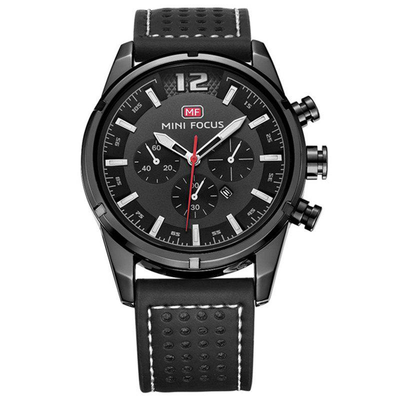 MINI FOCUS Mf0005G 4372 Dial Decor Men Watch - BLACK