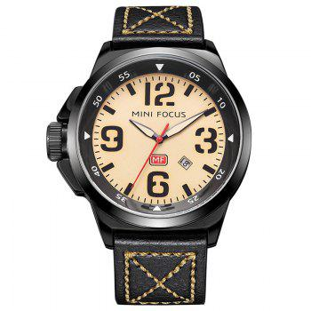 MINI FOCUS Mf0004G 4373 Calendar Display Men Watch - YELLOW YELLOW