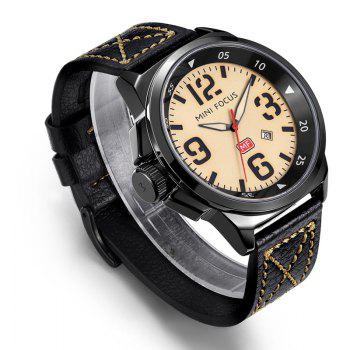MINI FOCUS Mf0004G 4373 Calendar Display Men Watch - YELLOW