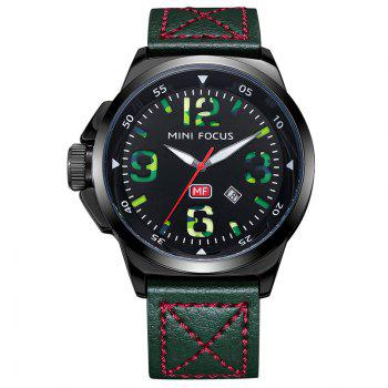 MINI FOCUS Mf0004G 4373 Calendar Display Men Watch - GREEN GREEN