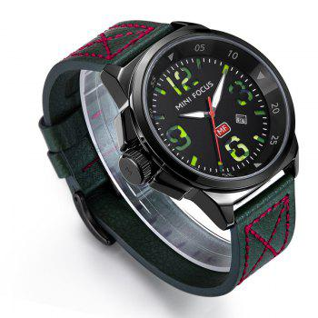 MINI FOCUS Mf0004G 4373 Calendar Display Men Watch -  GREEN