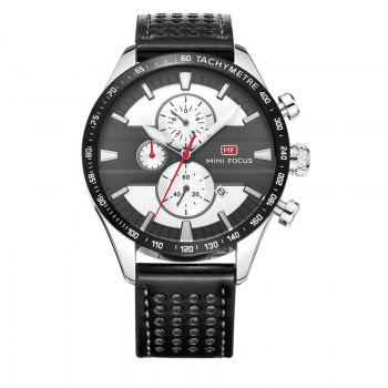 MINI FOCUS Mf0002G-04 4374 Leisure Sports Men Watch - BLACK AND GREY BLACK/GREY