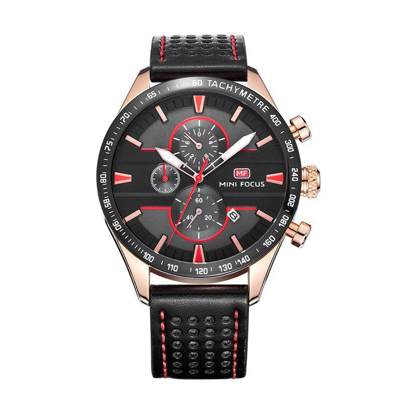 MINI FOCUS Mf0002G-04 4374 Leisure Sports Men Watch - BLACK
