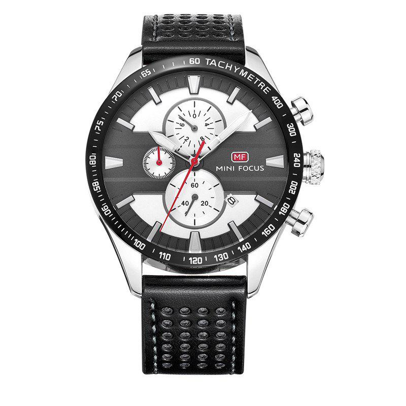 MINI FOCUS Mf0002G-04 4374 Leisure Sports Men Watch - BLACK/GREY
