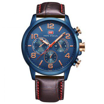 MINI FOCUS Mf0001G-05 4375 Business Dial Decor Men Watch - BLUE BLUE