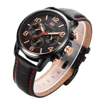 MINI FOCUS Mf0001G-05 4375 Business Dial Decor Men Watch -  BLACK