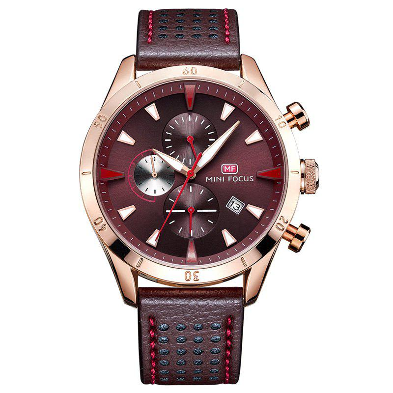MINI FOCUS Mf0011G 4368 Multifunctional Men Watch - COFFEE