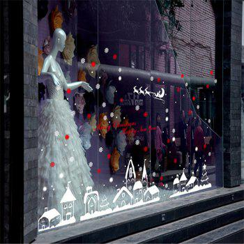New Style Snow Christmas Decoration Creative window wall Stickers -  COLORFUL