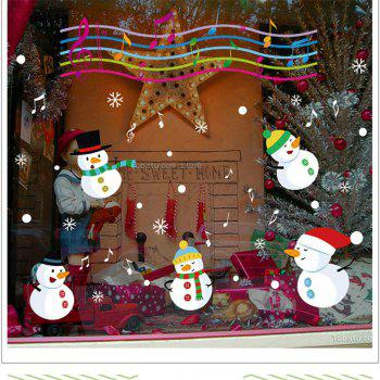 Christmas Snowman Christmas Decorations windows Wall Stickers - COLORFUL COLORFUL