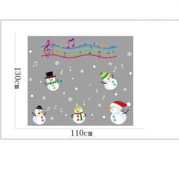 Christmas Snowman Christmas Decorations windows Wall Stickers - COLORFUL