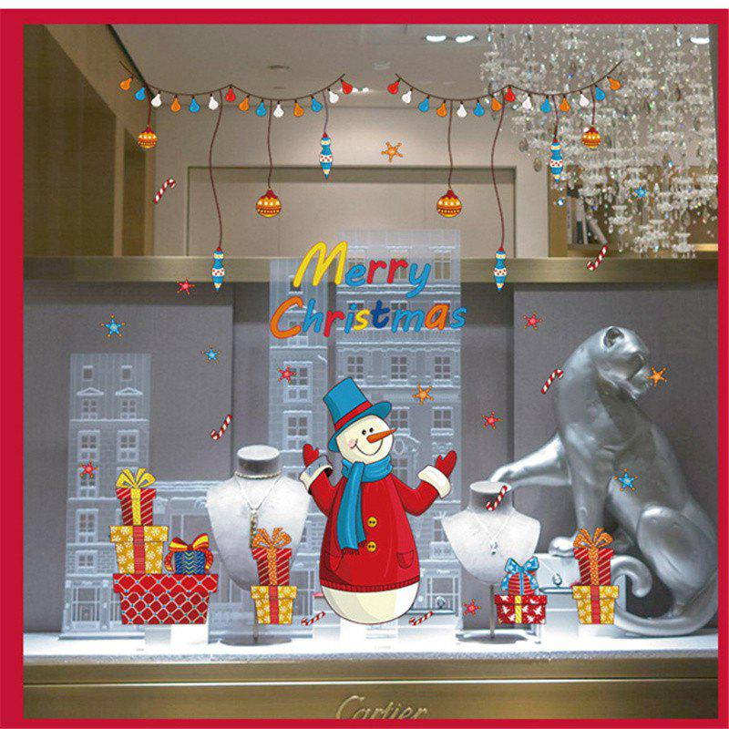 Nouveau style Santa Claus Décorations de Noël Stickers muraux Windows - Coloré