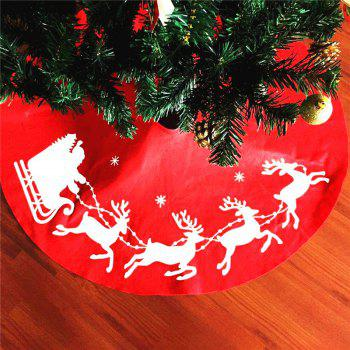 New Style Elk Print Tree Skirt Christmas Decorations - RED RED