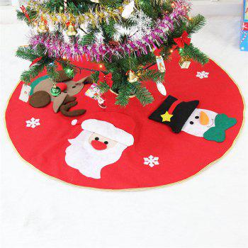 Fashion 3D Santa Claus Elk Embroidery Tree Dress Christmas Decoration - RED RED