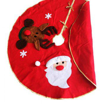 Fashion 3D Santa Claus Elk Embroidery Tree Dress Christmas Decoration -  RED