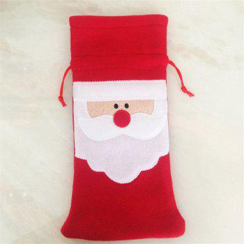 Creative Santa Claus Red Wine Bottle Bag Christmas Decoration -  RED