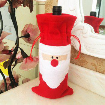 Creative Santa Claus Red Wine Bottle Bag Christmas Decoration - RED RED