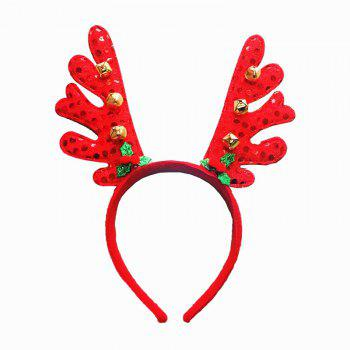 Fashion Deer Bell Head Band Christmas Decorations - RED RED